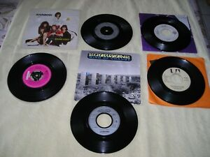 Hard Rock lot 45 tours (ZZ top, Saxon, Scorpions, Rainbow, Whitesnake)