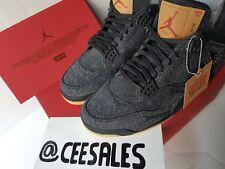 Nike x Levis Air Jordan 4 Collaboration Black Denim UK10 US11 EU45