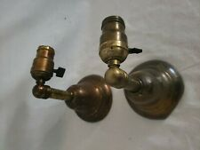 PAIR Vintage Brass wall Sconce Light Fixtures