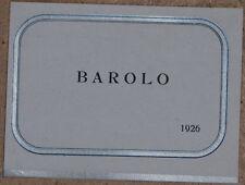 ETICHETTA VINO BAROLO 1926 BAROLO LABEL WINE ENOLOGIA WINE PRODUCING