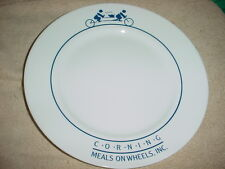 CORELLE CORNING NY MEALS ON WHEELS DINNER PLATE VERY RARE FREE USA SHIPPING