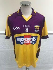 O'Neills Wexford GAA 2010-2011 Match Worn #8 Daithi Waters Shirt Jersey Size L