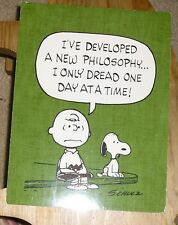 Hallmark Schultz Peanuts Philosophy of Charlie Brown Snoopy Postcard Stationary