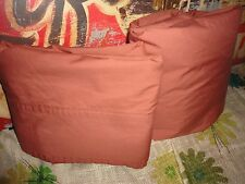 CHRIS MADDEN TERRACOTTA CINNAMON (2PC) FULL SHEET SET 100% COTTON