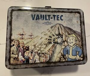 Fallout 3 4 Vault-Tec Metal Weathered Tin Lunchbox Replica By FanWraps