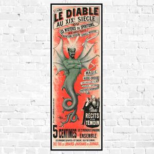 Le Diable Vintage Black Magic Poster Fine Art Giclee Print on Canvas or Paper