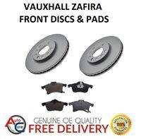 VAUXHALL ZAFIRA 1.7 CDTi FRONT BRAKE DISCS AND PADS SET 5 STUD 2005 - 2015 *NEW*