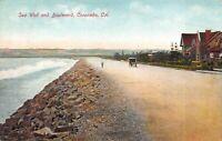 Postcard Sea Wall and Boulevard in Coronado, San Diego, California~120963