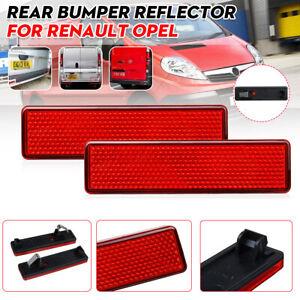 Rear Bumper Reflector Lens Light For Opel Vauxhall Renault Vivaro Nissan
