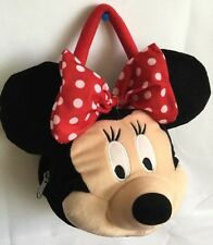 """DISNEY MINNIE Mouse Purse Face Polyester Mickey 9""""  Big Bow"""