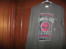 Timberland t-shirt gray long sleeve 10% polyester size XL brand new