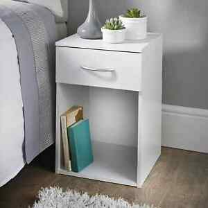 Lokken 1 Drawer Oak Side Table / End Table Perfect For Your Home - White
