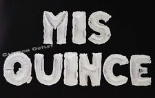 MIS QUINCE FOIL LETTER BALLOON BANNER PARTY DECORATIONS SILVER QUINCEANERA 15TH