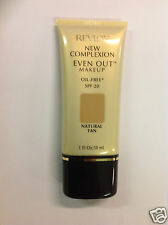 Revlon New Complexion Even Out Liquid Makeup Foundation ( NATURAL TAN ) New