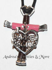 Disciple's Cross Horseshoe Nail Necklace Wire Wrapped Cross Barrel Racer Racing