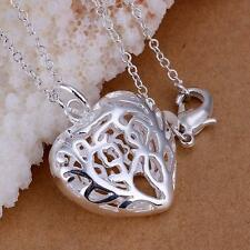 Fashion Silver Plated Charms Heart lovely Cute Beautiful Necklace jewelry lovely