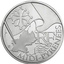 10 euros régions (argent) Midi Pyrénées 2010
