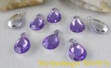300 pcs Purple teardrop acrylic charms W1724