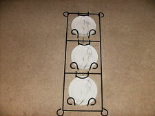 "New N Box Photo/Plate Black Wrought Iron Rack $60~30-1/2"" Home Interiors #12036"