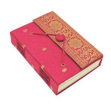 Fair Trade Handmade Cerise Medium Sari Fabric Journal Notebook Diary, Eco Paper