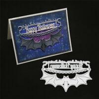 Stanzschablone Fledermaus Kette Feuer Weihnachts Hochzeit Geburtstag Karte Album