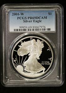 2001 W Proof Silver Eagle PCGS PR 69 DCAM