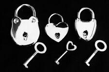 BEST  Functional Strong Working Padlock with keys BDSM Bondage Slave Day Collar