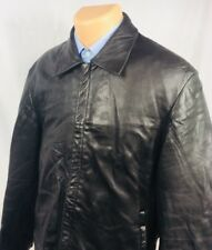 "Hugo Boss ""Clifford"" Pure Lambskin Black Full Zip Leather Jacket 40R"