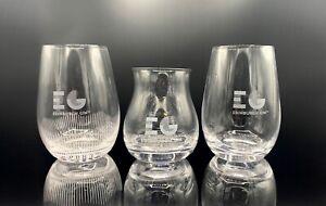 Set of 3 Edinburgh Gin Glasses Collectors Gift Glass In Gift Box