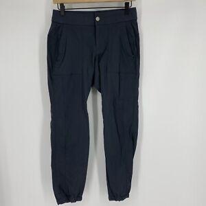 Athleta Pants Size 2 Petite Gray Trekkie Zip Pockets Jogger Mid Rise Hiking
