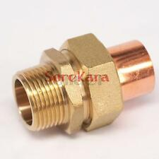 """1/2"""" BSP x 15mm Brass Male Thread Socket Union to Copper End Feed Pipe Fitting"""