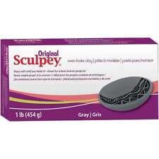 SCULPEY ORIGINAL - Oven Bake Polymer Clay - 454gm Block (1lb) - GREY **NEW**