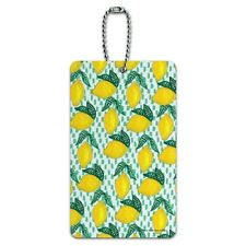 Lots of Lemons Pattern Luggage Card Suitcase Carry-On ID Tag