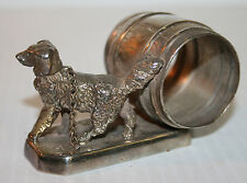 Victorian Silver Plated Napkin Ring Rip Van Winkle's Dog Simpson Hall Miller #47