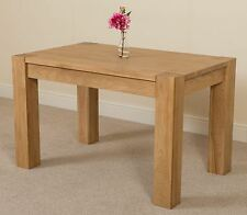 Kuba Solid Oak Wooden Small 125cm Fixed Dining Room Table Kitchen Furniture