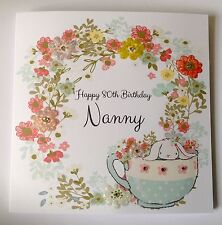 PERSONALISED BIRTHDAY CARD MUM MUMMY NANNY 30th 40th 50th 60th 70th 80th 90th