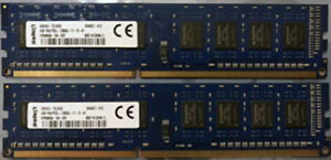 8 GB 2x 4GB Original Kingston DDR3 SDRAM 1600 MHz PC3-12800U PC Desktop RAM