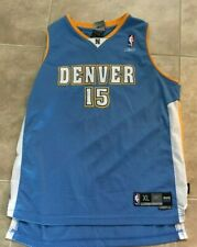 Carmelo Anthony 15 Denver Nuggets Throwback Blue & Yellow NBA Jersey XL +2