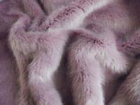 Super Luxury Faux Fur Fabric Material - SWISS VIOLET
