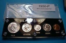 1950 SILVER SET of U.S. COINS LUSTROUS MINT UNCIRCULATED w/ SCARCE PROOF CENT