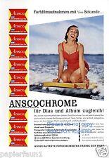 Film Anasco Reklame1957 Wellenreiten Wasserski Wakeboard Badeanzug Bikini ad ßß
