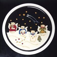 Sonoma Life Style Snowman Angel Christmas Serving Cheese Plate Trivet  11""