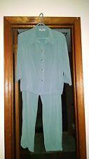 Cynthia Maxx, RELAX,  Slate Blue Pant Suit, Sz. XL