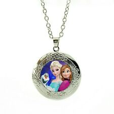 Frozen Necklace marbel locket with gift poch birthday LC34