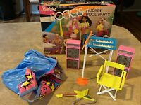 Vintage Mattel 1986 Barbie and the Rockers Rockin' Pool Party W/ Box