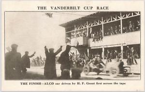 Antique Postcard: 1910 Vanderbilt Cup Race The Finish
