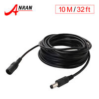 10M 12V DC Power Extension Cable Cord Adapter Plug For CCTV Security Camera US