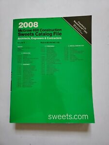2008 Sweets Catalog Catalogue McGraw-Hill Furnishings Volume 6 Architectural