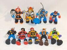 Lot Of 9 Fisher Price Rescue Heroes Action Figures