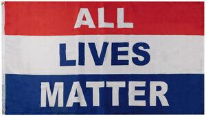 All Lives Matter Red White Blue Premium 100D Woven Poly Nylon 3'x5' Flag Banner